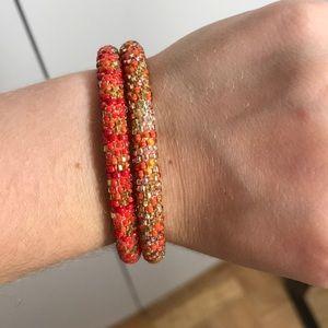 Lily & Laura Beaded Bracelets (set of 2)